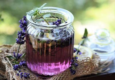 Lavendelblütensirup